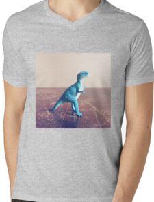 Blue Dinosaur  Mens V-Neck T-Shirt