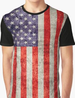 Antique American Flag Graphic T-Shirt