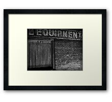 Equipment Framed Print