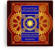 Atlantean Steamworks - Blue and Gold Canvas Print