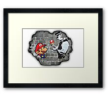 Super Mario - mushrooms addicted Framed Print