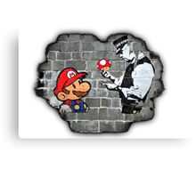 Super Mario - mushrooms addicted Canvas Print
