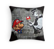Super Mario - mushrooms addicted Throw Pillow