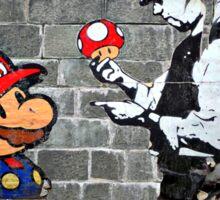 Super Mario - mushrooms addicted Sticker