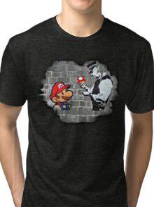 Super Mario - mushrooms addicted Tri-blend T-Shirt