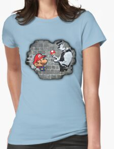 Super Mario - mushrooms addicted Womens Fitted T-Shirt