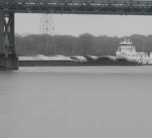 Mississippi River/I-74 Bridge & Barge Sticker