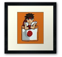 Street Fighter Pocket Pals - #1 Ryu Framed Print