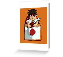 Street Fighter Pocket Pals - #1 Ryu Greeting Card