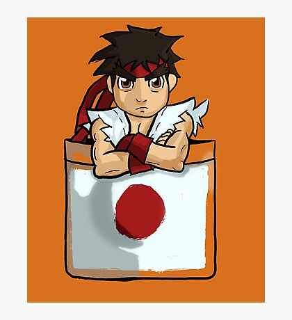 Street Fighter Pocket Pals - #1 Ryu Photographic Print