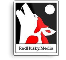 Red Husky Media Logo Metal Print