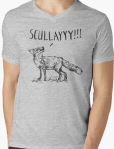 What a Certain Fox Says Mens V-Neck T-Shirt