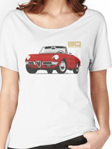 Alfa Romeo Duetto Series 1 Spider red Women's Relaxed Fit T-Shirt