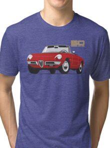 Alfa Romeo Duetto Series 1 Spider red Tri-blend T-Shirt