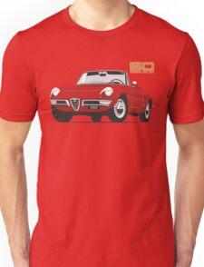 Alfa Romeo Duetto Series 1 Spider red Unisex T-Shirt