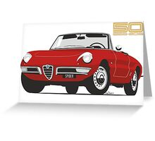 Alfa Romeo Duetto Series 1 Spider red Greeting Card