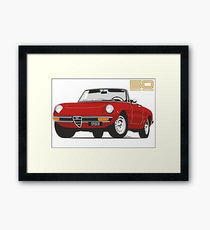 Alfa Romeo Series 2 Spider red Framed Print