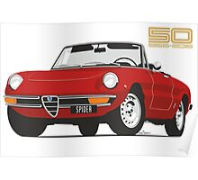 Alfa Romeo Series 2 Spider red Poster