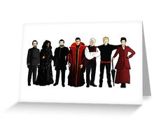 Doctor Who - The Seven Masters Greeting Card