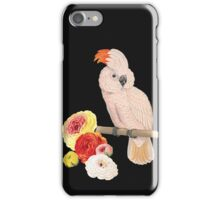 Botanical Parrot with Flowers iPhone Case/Skin