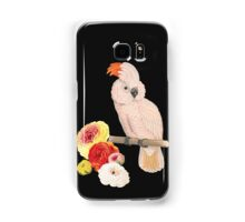 Botanical Parrot with Flowers Samsung Galaxy Case/Skin