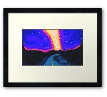 From the Road to the Milky Way Framed Print
