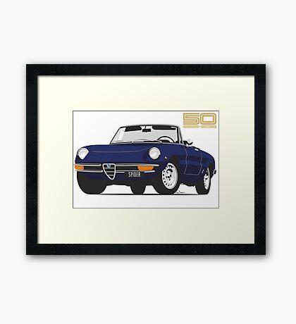 Alfa Romeo Series 2 Spider blue Framed Print