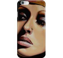 Christina Aguilera Painting iPhone Case/Skin