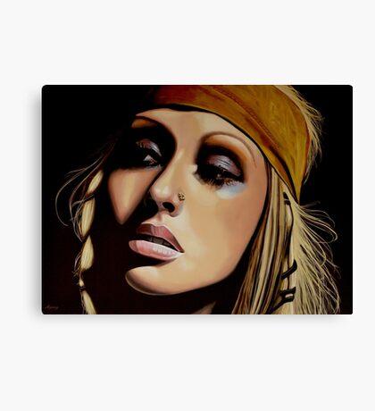 Christina Aguilera Painting Canvas Print