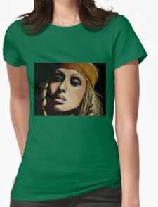 Christina Aguilera Painting Womens Fitted T-Shirt