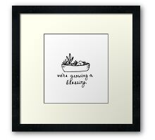 Birth Announcement - We're Growing A Blessing Framed Print