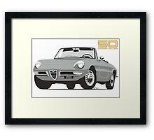 Alfa Romeo Series 2 Spider silver Framed Print