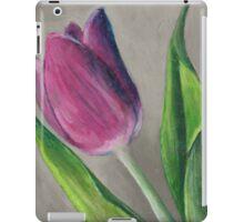 Spring blooming tulip flower original oil pastel painting iPad Case/Skin