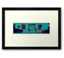 Video Game Street  Framed Print