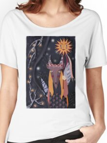 goat mask Women's Relaxed Fit T-Shirt