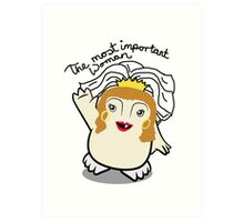 Dr Who Donna Noble Adipose Bride Art Print