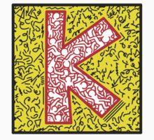 keith, haring, keith haring, graffiti, trending, symbol, pop art, funny, logo, people, family, motif, paris, famous. One Piece - Short Sleeve