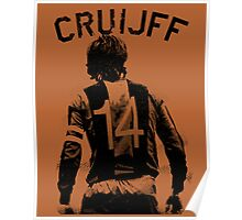 Johan Cruyff the Orange back. Poster