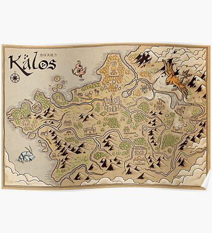 Kalos Map Poster