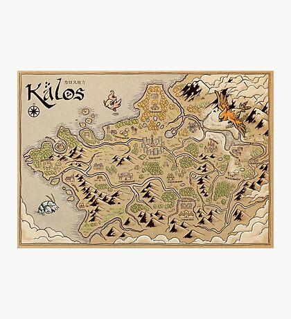 Kalos Map Photographic Print