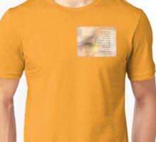 Serenity Prayer Dove and Flowers Unisex T-Shirt