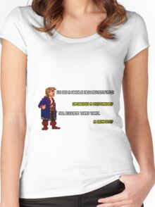 Guybrush Threepwood - Mustache Quote Women's Fitted Scoop T-Shirt