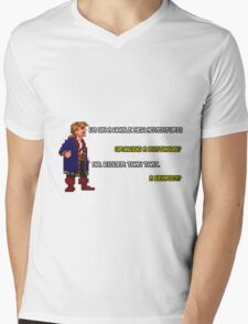 Guybrush Threepwood - Mustache Quote Mens V-Neck T-Shirt