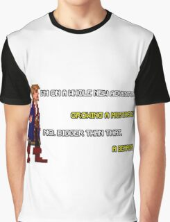 Guybrush Threepwood - Mustache Quote Graphic T-Shirt