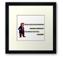 Guybrush Threepwood - Mustache Quote Framed Print