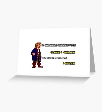 Guybrush Threepwood - Mustache Quote Greeting Card