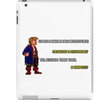 Guybrush Threepwood - Mustache Quote iPad Case/Skin