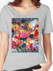 Denim Floral Women's Relaxed Fit T-Shirt