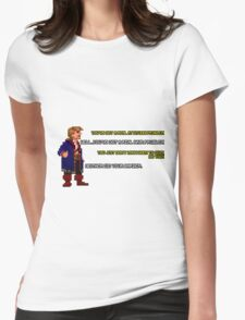 Guybrush Threepwood vs Meathook Womens Fitted T-Shirt