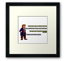 Guybrush Threepwood vs Meathook Framed Print